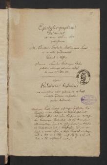 Epistolographie Gorlicenses (1576-1607)