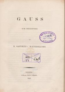 Gauss zum Gedächtniss