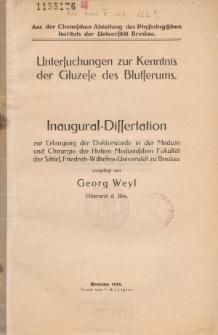 Untersuchungen zur Kenntnis der Gluzese des Blutserums.