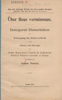 Über Ileus verminosus.