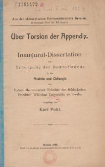 Über Torsion der Appendix.