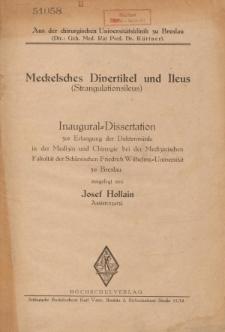 Meckelsches Divertikel und Ileus : (Strangulationsileus).