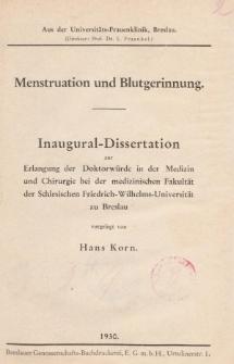 Menstruation und Blutgerinnung