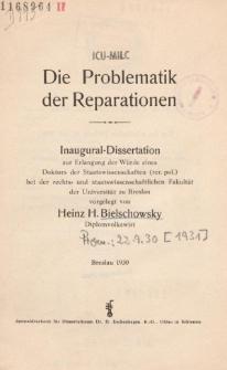 Die Problematik der Reparationen