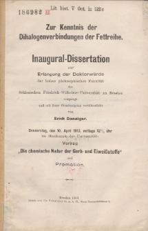Zur Kenntnis der Dihalogenverbindungen der Fettreihe.