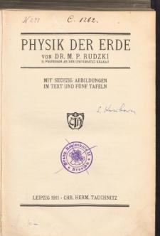 Physik der Erde
