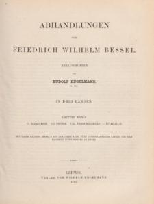 Abhandlungen von Friedrich Wilhelm Bessel. Bd. 3