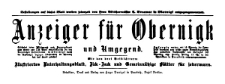 Anzeiger für Obernigk und Umgegend 1909-06-06 Jg. 16 Nr 45