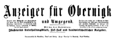 Anzeiger für Obernigk und Umgegend 1918-08-17 Jg. 25 Nr 66
