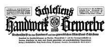 Schlesiens Handwerk und Gewerbe. Schlesisches Gewerbeblatt, Wochenschrift für den gewerblichen Mittelstand Schlesiens 1921-07-09 Jg. 2 Nr 28