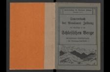 Tourenbuch der Breslauer Zeitung für 150 Ausflüge in die Schlesischen Gebirge mit besonderer Berücksichtigung der Sonntagsfahrten und Sonderzüge.