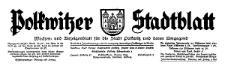 Polkwitzer Stadtblatt. Wochen und Amtliches Anzeigenblatt für die Stadt Polkwitz und deren Umgegend 1934-02-09 Jg. 52 Nr 12