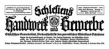 Schlesiens Handwerk und Gewerbe. Schlesisches Gewerbeblatt, Wochenschrift für den gewerblichen Mittelstand Schlesiens 1923-07-14 Jg. 4 Nr 28