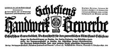 Schlesiens Handwerk und Gewerbe. Schlesisches Gewerbeblatt, Wochenschrift für den gewerblichen Mittelstand Schlesiens 1927-07-09 Jg. 8 Nr 28