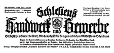 Schlesiens Handwerk und Gewerbe. Schlesisches Gewerbeblatt, Wochenschrift für den gewerblichen Mittelstand Schlesiens 1929-10-19 Jg. 10 Nr 42