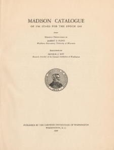 Madison Catalogue of 2786 stars for the epoch 1910