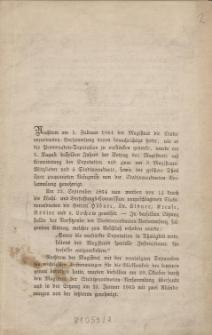 [Bericht über die Tätigkeit der Promenadendeputanion 1864/1865]