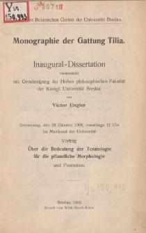 Monographie der Gattung Tilia.