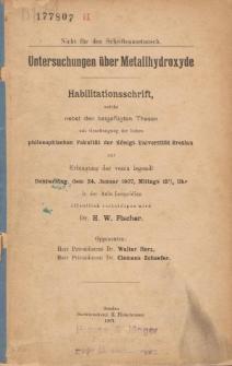 Untersuchungen über Metallhydroxyde.