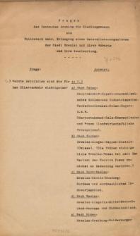 Fragen des Deutschen Archivs für Siedlungswesen zum Wettbewerb betr. Erlangung eines Generalbebauungsplanes der Stadt Breslau und ihrer Vororte und ihre Beantwortung