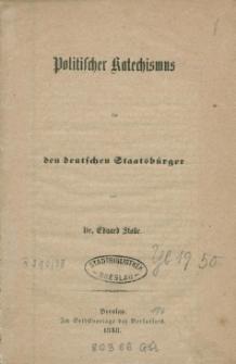 Politisches Katechismus für den deutschen Staatsbürger
