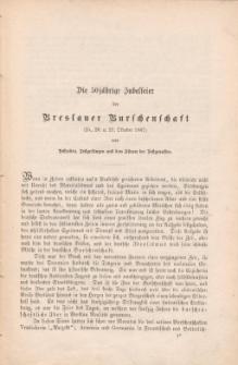 Die 50jährige Jubelfeier der Breslauer Burschenschaft[Pi