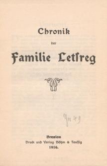 Chronik der Familie Letsreg