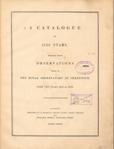 A Catalogue of 1112 stars