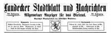 Landecker Stadtblatt und Nachrichten. Allgemeiner Anzeiger für das Bieletal. Amtliches Anzeigenblatt der städtischen Behörden. 1923-01-06 Nr 1