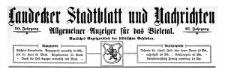 Landecker Stadtblatt und Nachrichten. Allgemeiner Anzeiger für das Bieletal. Amtliches Anzeigenblatt der städtischen Behörden. 1923-04-14 Nr 15