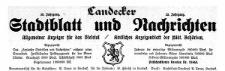 Landecker Stadtblatt und Nachrichten. Allgemeiner Anzeiger für das Bieletal. Amtliches Anzeigenblatt der städtischen Behörden. 1923-11-17 Nr 46