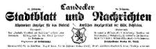 Landecker Stadtblatt und Nachrichten. Allgemeiner Anzeiger für das Bieletal. Amtliches Anzeigenblatt der städtischen Behörden. 1924-04-02 Nr 14