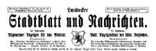 Landecker Stadtblatt und Nachrichten. Allgemeiner Anzeiger für das Bieletal. Amtliches Anzeigenblatt der städtischen Behörden. 1925-01-28 Nr 8