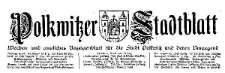 Polkwitzer Stadtblatt. Wochen und Amtliches Anzeigenblatt für die Stadt Polkwitz und deren Umgegend 1926-11-03 Jg. 44 Nr 87